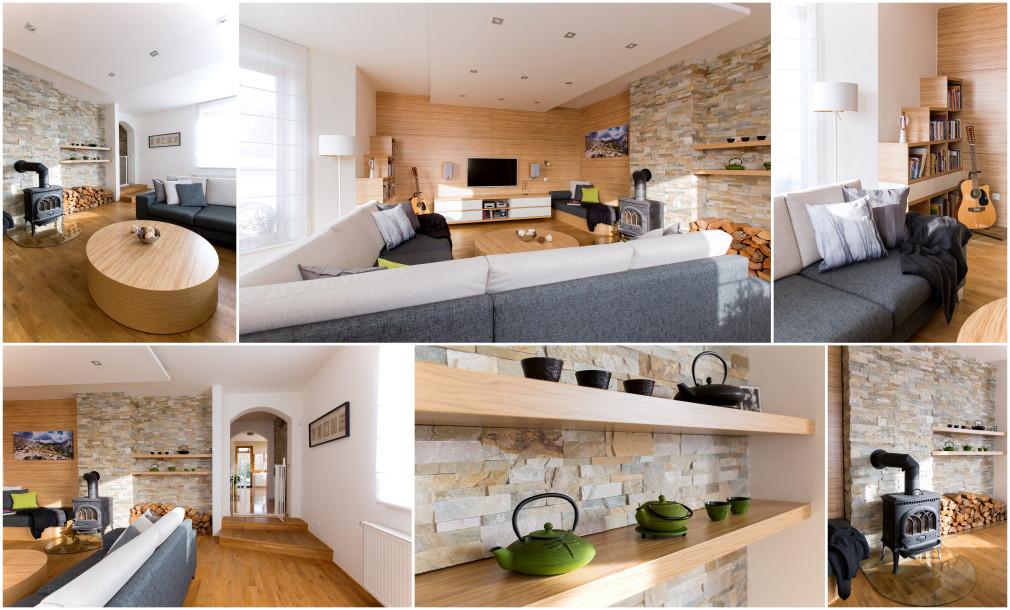 RD Olomouc 01 - koláž obývací pokoj - Atelier ZUZI